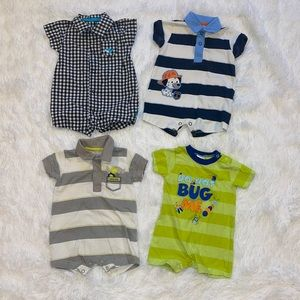 $12 Sale Lot of Boys Size 0-3M Rompers